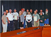 Representatives of the Mattaponi Hunt Club and Upper Caroline Volunteer Fire Department were recognized for organizing and hosting the annual Warriors Hunt.
