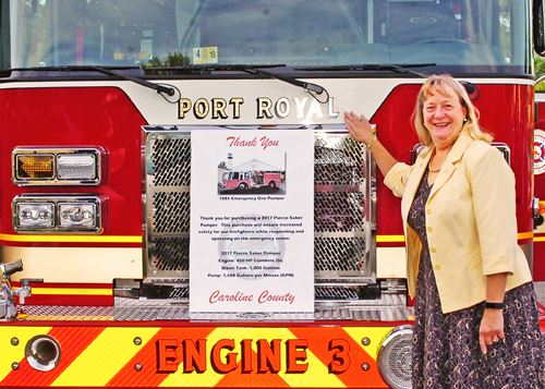 Presentation of New County Fire Engine 3