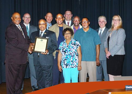 A resolution in celebration of the 135th Anniversary of Mt. Salem Baptist Church was presented at the May 8, 2018 Board of Supervisors Meeting.