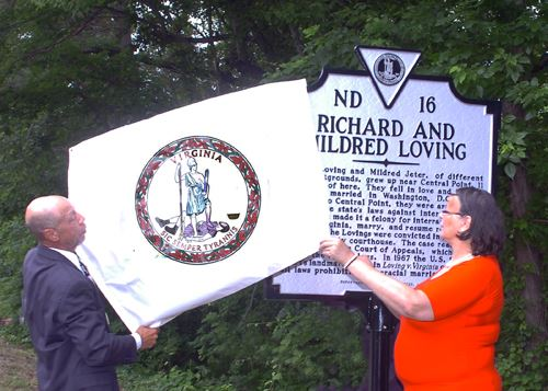 Dedication of Historical Marker Honoring Mildred and Richard Loving
