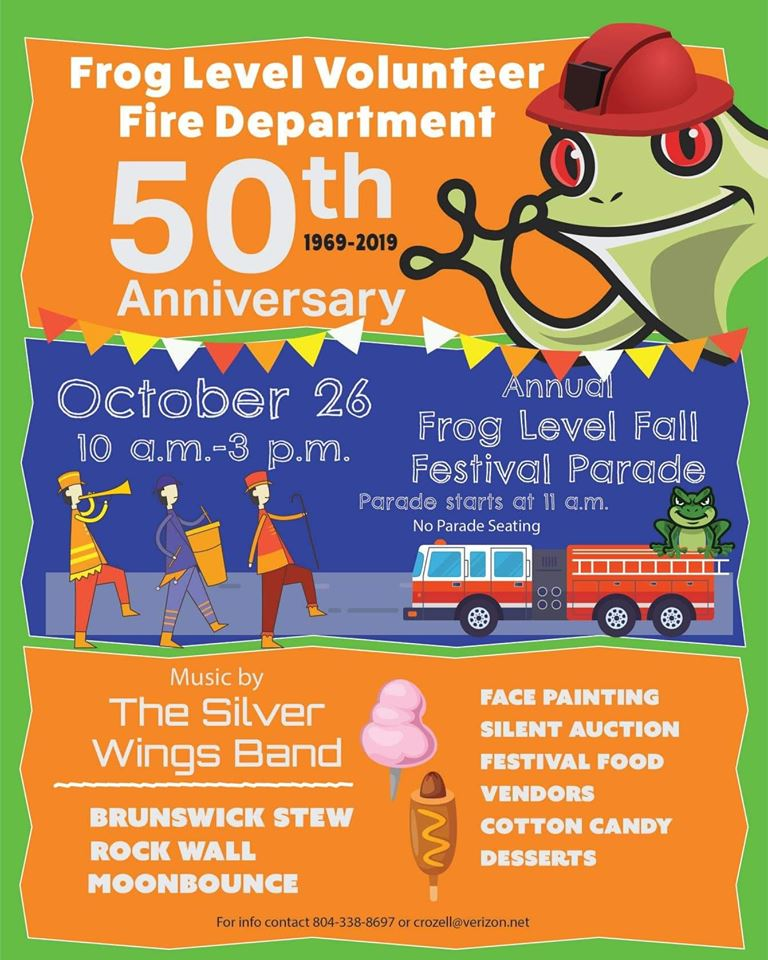 Frog Level Fall Festival and Parade October 26, 2019